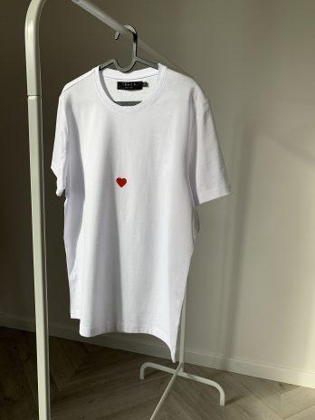 REAL LOVE balti marškinėliai